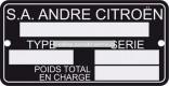 Typový štítek karoserie